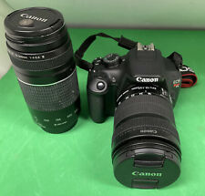 Canon Eos Rebel T5 Digital Slr Camera 18Mp and 18-135mm Zoom Lens 75-300Mm Great