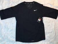 Nike Short Sleeve Jacket Mens Size L Large Baseball Training Black NWT