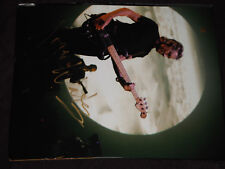 PINK FLOYD ROGER WATERS SIGNED PLAYING GUITAR IN FRONT OF MOON 11X14