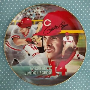 "PETE ROSE - ""AUTOGRAPHED"" LIMITED EDITION COLLECTORS PLATE BY ARMSTRONG  1985"
