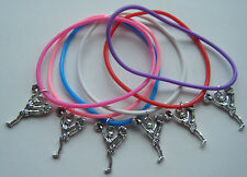 X6 Cheerleader Cheerleading GUMMY BAND Charm Bracelets Party Borsa Filler Regalo