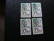 polinesia - francobollo yvert e tellier n° 6 x4 obliterati (A20) stamp (T)
