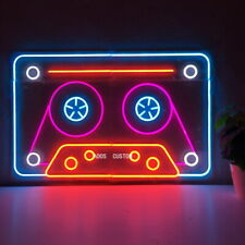 AOOS CUSTOM Retro Recorder Tape Dimmable LED Neon Light Signs For Wall Decor