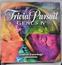 EUC 1994 Trivial Pursuit Genus IV Master Game General Knowledge Trivia Questions