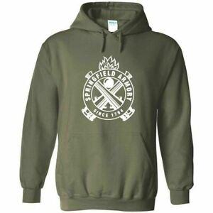 Springfield Armory White Logo Hoodie Sweatshirt 2nd Amendment Pro Gun Rights New