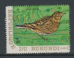 Burundi - 1970, 3f Eurasian Skylark, Bird stamp - MNH - SG 542