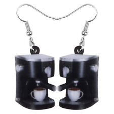 Acrylic Cup Coffee Machine Earrings Dangle Ornaments Jewelry For Women Girl Gift