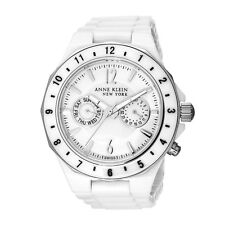NEW Anne Klein 12/1979WMWB White Ceramic Mother of Pearl Dial Womens Watch $395
