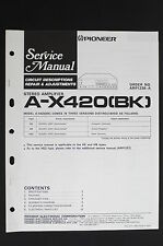 PIONEER A-X420(BK) Service-Manual/Circuit Descriptions Repair & Adjustments o115