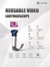 Reusable Video Laryngoscope Electronic Endoscope Mac Stainless steel  6 Blades