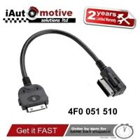 Audi VW iPod iPhone AMI MMI 2G Audio Cable Adaptor Interface Lead Connector
