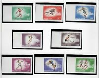 s22125) HUNGARY 1966 MNH** Nuovi** European Athletic games 8v IMPERFORATED