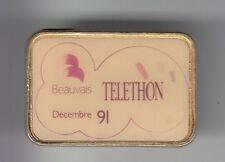 RARE PINS PIN'S .. TV RADIO PRESSE A2 FR3 TELETHON DECEMBRE 1991 BEAUVAIS 60 ~DI