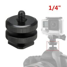 """1/4"""" Kamera Dual Blitzschuhadapter Montieren Für GoPro DSLR Videolichtst?nder ED"""