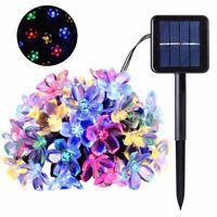 7M 50LED Multicolor Solar Powered Fairy String Flower Light Outdoor Garden Lamp