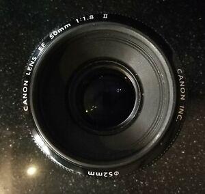 Ottica Canon EF 50mm f/1.8 II + filtro UV + filtro FLD