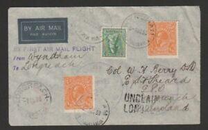 Australia 1938 first flight cover Wyndham to Longreach