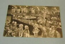 1930's Marshall Field Store Toy Section Advertising Postcard Mickey Mouse Dolls