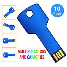 10PCS/LOT 2GB Metal Key Model USB 2.0 Flash Drive Thumb Memory Stick Pen Drives