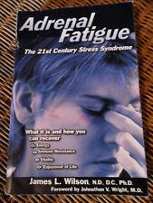 ADRENAL FATIGUE Stress Syndrome Book WILSON Health 9781890572150 Treat Tiredness