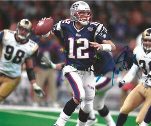 Tom Brady New England Patriots Signed Autographed 8x10 photo Reprint