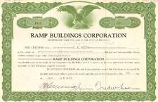 Ramp Buildings Corporation > 1960 share stock certificate