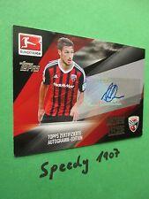 Topps Bundesliga Chrome 2016 Autogramm Karte Leckie Ingolstadt Unterschrift 16