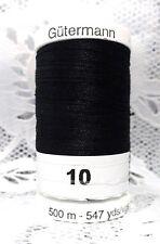 NEW 1 Black GUTERMANN 100% polyester Sew-All thread 547 yard Spool