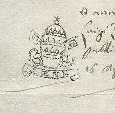 Ravenna 1815 Stato Pontificio Documento post Restaurazione Congresso di Vienna