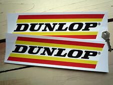 """DUNLOP Wider Striped 11"""" Pair Race & Rally Car STICKERS Motorcycle Vinyl Decals"""