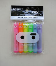 NIP Ninja Rabbit Highlighter Marker 6pc Pack Cute Kid Stationery Creative Design