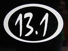 "13.1 Half Marathon Race Decal Sticker Run Jog *New 3.5"""