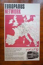1966 Europabus Network Coach Original Railway Travel Poster