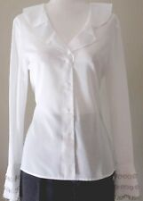 NWT ORIGINAL COMPANY ELLEN TRACY OFFICE TO EVENING BELL SLEEVE BLOUSE WHITE  $188