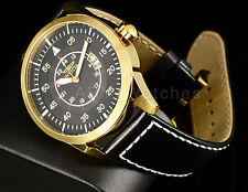 Invicta 19260 I-Force Military Dial 18kt Gold Tone Case Black Leather Watch New5