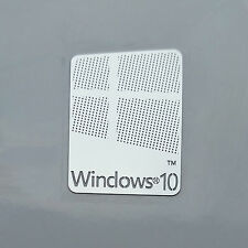 Windows 10 Metal Chrome Sticker Case Badge Logo Computer/Laptop PC 17x22mm USA