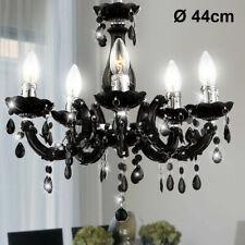 Hänge Leuchte Pendel Lampe Kronleuchter schwarz Luster Decken Beleuchtung Licht
