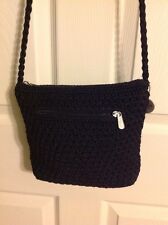 The Sak Black Knit Handbag Shoulder Bag Tote Satchel Purse Cross body Bag Clutch