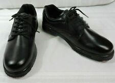 NWOB Men's Tredsafe Loafers 9.5 BLACK Leather Slip-proof Work 9 1/2 EU 42.5 NEW