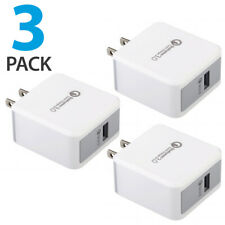 3x USB Wall Charger Fast Charge 3.0 For iPhone 8 X XS Samsung Galaxy S10+ S9+ LG