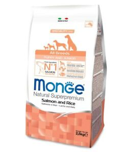 Monge Superpremium All Breeds Puppy & Junior Salmon and Rice Monge