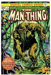 MAN-THING #1  2nd HOWARD THE DUCK!  F/VF (7.0)  FRANK BRUNNER Cvr!  BLACK WIDOW!