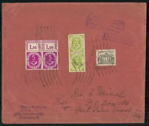 MayfairStamps Germany 1951 to West Palm Beach Florida Cover wwk76985