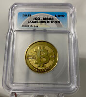 Casascius Brass 1 Bit Coin Blank / Unfunded - ICG Graded MS63 /Like BTCC, Titan