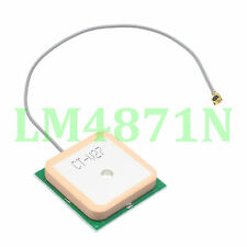 "Compact Size Built-in GPS Active Antenna 28*28*8.5mm LNA 28dB IPX/U.fl 6""cable"