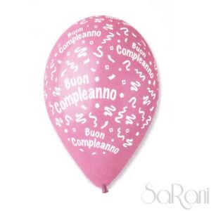 Palloncini Buon Compleanno 20pz Palloni Festa Party Rosa Decorazioni 30cm SARANI