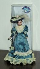 Dolls House Doll Figure 1/12th Scale Porcelain Victorian Lady +stand  New/Boxed