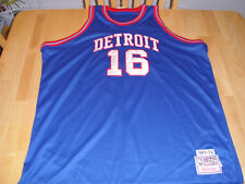 NWT Detroit Pistons Jersey XXL Throwback Vintage Bob Lanier sz 54 Lions Red Wing