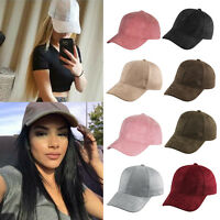 2019 Unisex Men Women Suede Baseball Cap Snapback Visor Sport Sun Adjustable Hat