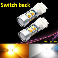 3157 White Amber Dual Color Switchback LED Turn Signal Light Bulbs White/Amber